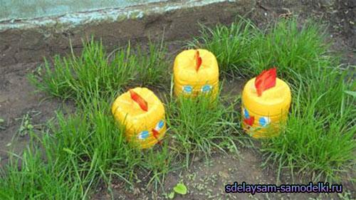 Цыплята из пластиковой бутылки своими руками мастер класс